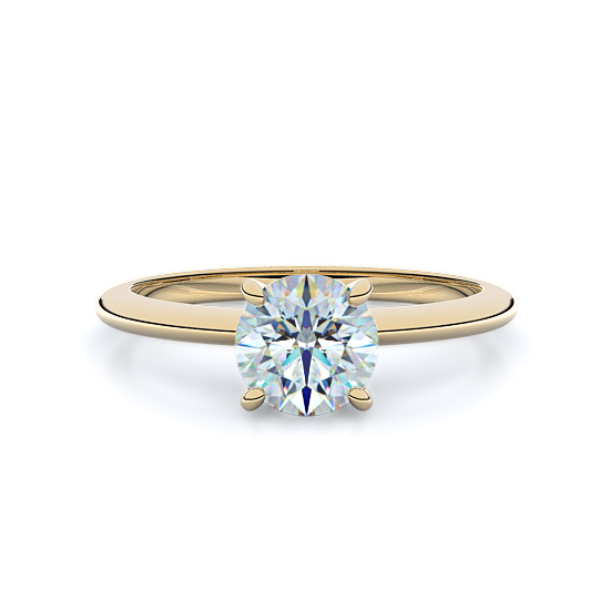 Four Prong Classic Solitaire Engagement Ring (14K Yellow Gold)